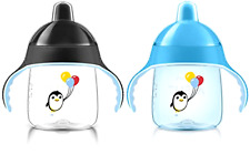 Brand New Philips Avent My Penguin Sippy Cup, Blue, 9 Ounce (Pack of 2), Stage 2