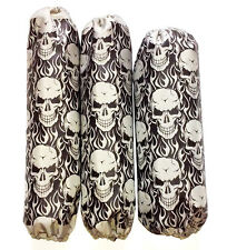 Shock Covers Kawasaki KFX 450R Grey Skulls 450 R ATV Set of 3
