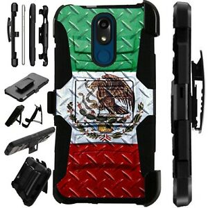 Luxguard Case for LG Phone Holster Kick Stand Cover MEXICO FLAG CROSSHATCH