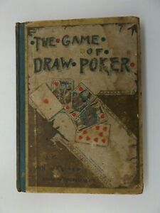 1889 The GAME of DRAW POKER by John W. Keller EARLY EDITION Scarce CARDS