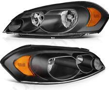 Fits Chevrolet Impala 2006 2013 Headlights Assembly Headlamps Black Housing Pair Fits 2006 Impala