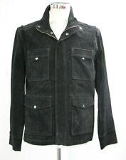 Men's Flintoff Black Suede Real Leather Jacket (M)..Sample 4283