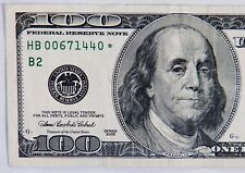 OLD-2006 $100 STAR NOTE LOW S/N HB 00671440 * Circulated  Replacement U.S. Note.