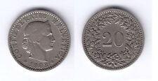 SUIZA SWITZERLAND 1883 20 RAPPEN   NI    KM: 27