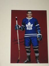 Toronto Maple Leafs DAVE KEON Signed 4x6 Photo NHL AUTOGRAPH 1C