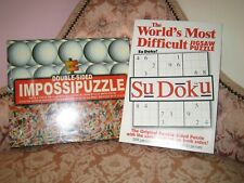 Double Sided Impossipuzzle Golf Balls & Tees + Rare Sudoku Dble Sded Jigsaw New