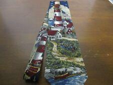 Van Heusen Americana Series Lighting The Way Circa 1931 Tie, Lighthouse, Silk