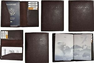 Lot of 6 New Leather passport cover, Brown Unbranded international passport case