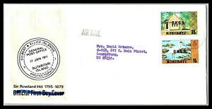 GP GOLDPATH: GILBERT & ELLICE COVER AIR MAIL FIRST DAY COVER _CV676_P11
