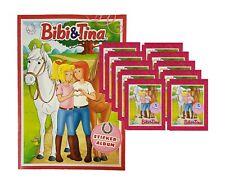 Bibi und Tina Sammelsticker 2019 - 1 Album + 10 Tüten (50 Sticker)