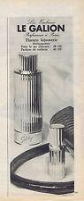 PUBLICITE ADVERTISING 1961 074 LE GALION Flacons bijouterie