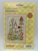 NEW Janlynn's Garden Charms Counted Cross Stitch Kit #27-118 Kitty Cat Birdhouse