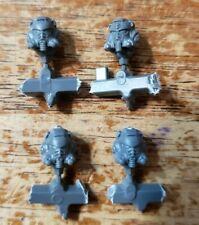 Warhammer 40k Space Marine Bits: Aggressors Engraved Helmet Heads x4