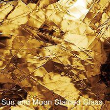 """8 X10"""" Spectrum Glass Sheet S 110.8A - Medium Amber Artique Stained Glass Sheet"""