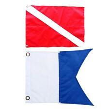 Drapeau de bateau de plongeur en nylon de 2 morceaux, marqueur de drapeau de