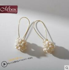 white baroque Pearl earrings 925 silver(w) Aaa+ 2-3mm natural real south sea