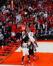 Kawhi Leonard Toronto Raptors Eastern Conference Finals Dunk UNSIGNED 8X10 Photo