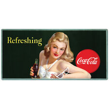 Coca-Cola Girl with Sunglasses Refreshing Wall Decal 24 x 12 Bathing Beauty