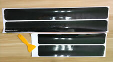5D Black Carbon Fiber Accessory Car Door Sill Scuff Plate Cover Vinyl Sticker US