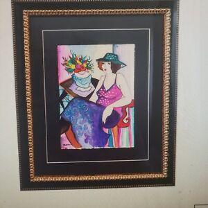 "Patricia Govezensky- Original Watercolor ""Lucie"""