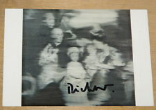 Gerhard richter familie main signé allemand art postcard uacc distributeur inscrit