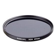 RISE(UK) 67MM 67mm Neutral Density ND8 filter for ALL DSLR SLR Camera lens .