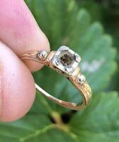 Vtg 14k 18k Yellow White Gold Diamond Semi Mount Setting Wedding Engagement Ring