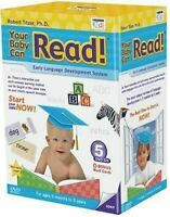 YOUR BABY CAN READ Early Language Interactive Development System 5 DVD's  F SHIP
