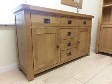 Kingsford Solid Oak Wide 2 Door 6 Drawer Sideboard 110cm 45cm 90cm