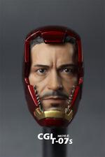 HOT FIGURE TOYS Iron man undamaged helmet Tony MK7 headplay Contains mask Custom