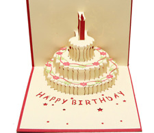 Birthday Cake 3D PopUp Greeting Card Birthday card Christmas card Party card 09