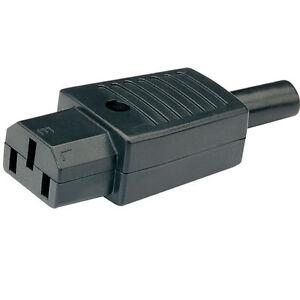 IEC 3 PIN IN - LINE SOCKET C13 240Vac 10A