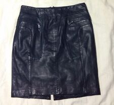 ANDREW MARC Lamb Leather Skirt Sz 8 Made In India New