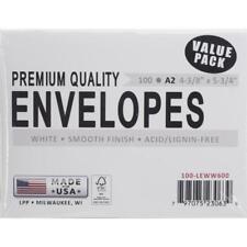 "A2 White Envelopes 100/Pkg - 4 3/8"" x 5 3/4"""