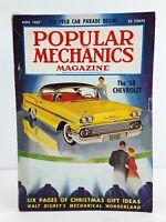 Popular Mechanics Magazine Vintage November 1957 Disneyland, Car Parade Issue