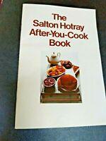 Vintage User Manual & MCM Recipes Cookbook Salton Hotray Hot Tray Entertaining