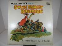 Walt Disney Story of Swiss Family Robinson LP Album Disneyland 1280  VG c VG