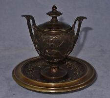 Encrier en Bronze Décor à l'Antique Dans le Goût de Barbedienne XIXème Siècle