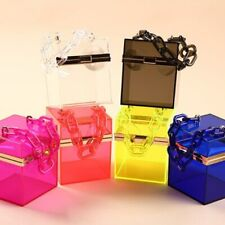 New 2020 Trend Transparent Clear Jelly Acrylic Box Handbag With Chian For Women