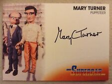 GERRY ANDERSON COLLECTION SUPERCAR AUTOGRAPH CARD: MARY TURNER - PUPPETEER