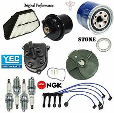 Tune Up Kit Fuel Air Filter Spark Plugs Wire Cap Rotor for Honda Accord 94-97