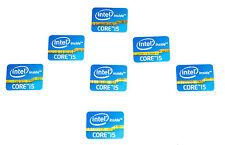 Intel Inside Core i5 sticker Black negro 7x trozo PCs pegatinas Label logotipo