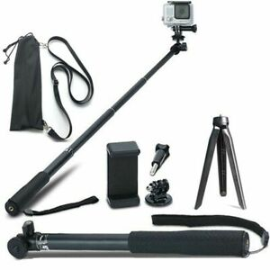 Extendable Selfie Stick Monopod Mount Tripod for GoPro Hero 8 7 6 5 4 and Other