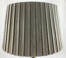 "HARD BOX PLEAT 11"" EMPIRE DRUM SHADE IN MINK COLOUR FOR TABLE LAMP OR CEILING"