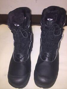 Salomon Black Aero Therm Insulation Waterproof Boots Mens Size 14