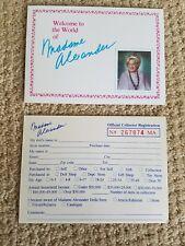 Madame Alexander Doll Club & Registration Cards