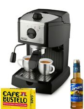 DeLonghi EC155  Espresso Machine with Built-In Frother and Tamper Black