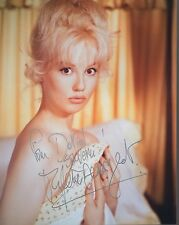 Mylene Demongeot Hand Signed 8x10 Color Photo+Coa Sexy Actress To David