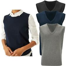 Womens Ladies Knitted Vest Top Sleeveless Jumper Tank Waistcoat Gilet Sweater