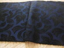 B11 ancien tissu  petit coupon Noir bleu 40 sur 21 cm année 50